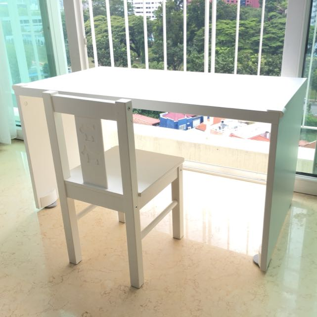 IKEA CHILDREN'S TABLE & CHAIR IN EXCELLENT CONDITION