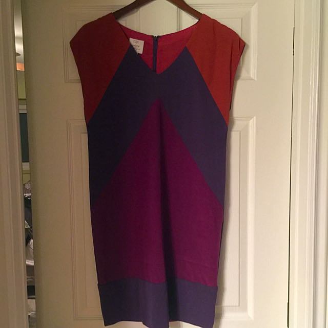 Colour Block Tunic Dress