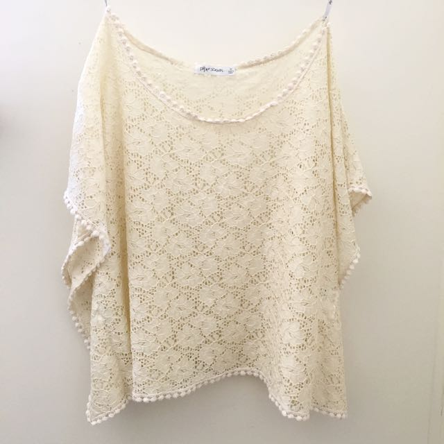 ❗️REDUCED❗️Cream Lace Top