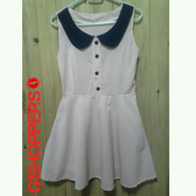 Girly Pink Collar Dress