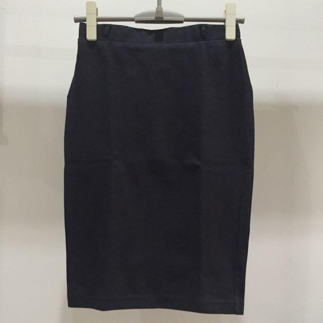 Hnm 7/8 Black Skirt