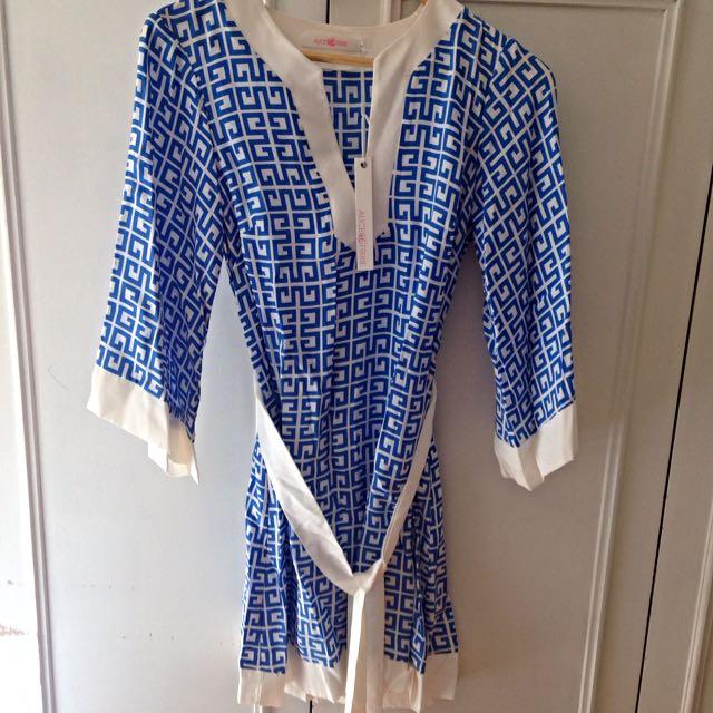 Kaftan Blue Alice & Trixie Silk Ladies Dress