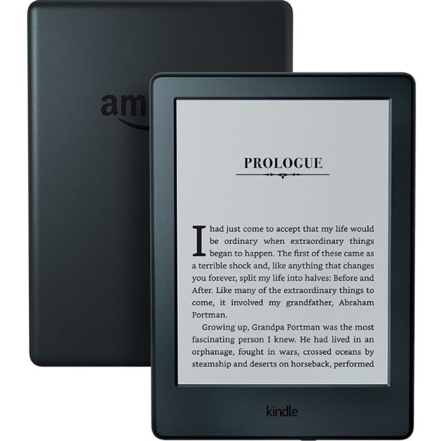 Kindle With Navy Blue Case