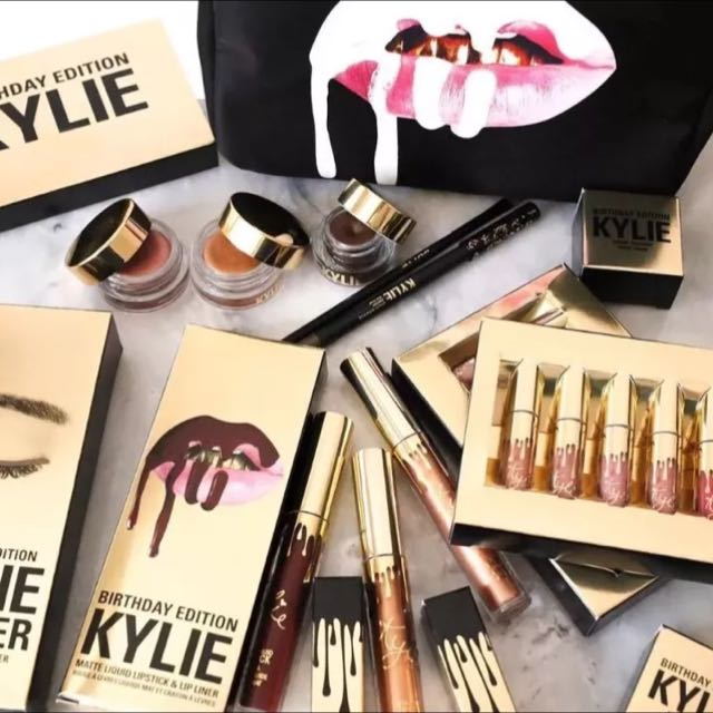 KYLIE COSMETICS BIRTHDAY LIMITED EDITION JENNER POPPIN & LORD LIPKITS
