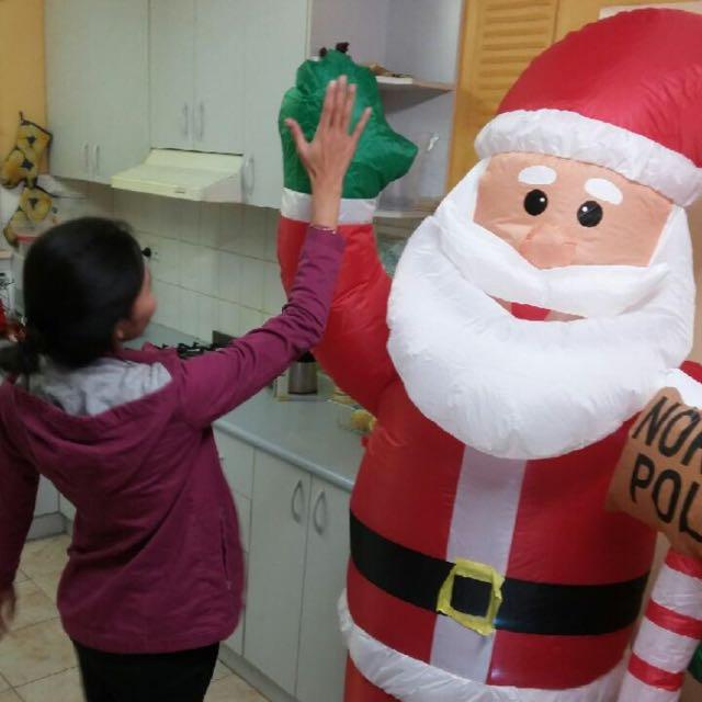 Make An Offer Huge Auto Inflating Santa Xmas