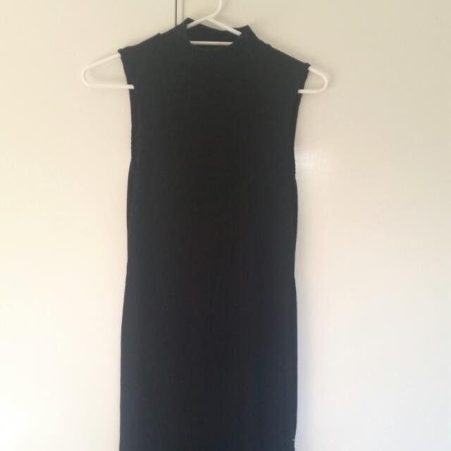 Midi Turtle Neck Knit Dress