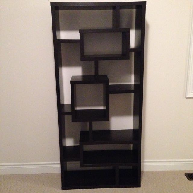 Modern Book Case/ Console In Espresso Finish