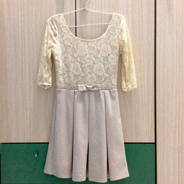 [New] Vintage Brocade Midi Dress