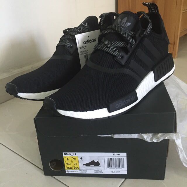 new product 67339 bbca7 (RESERVED) Nmd Runner BLACK REFLECTIVE 3M S31505 US8 UK 7.5