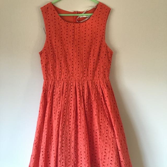 Orange Summery Skater Dress