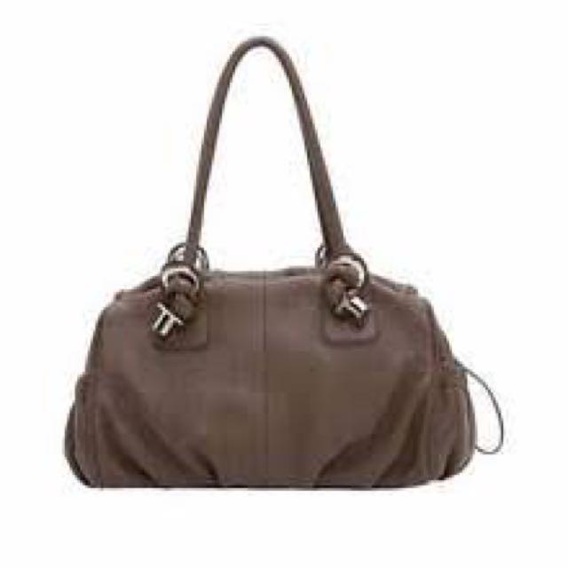 Oroton Royal Brown Leather Tote Bag