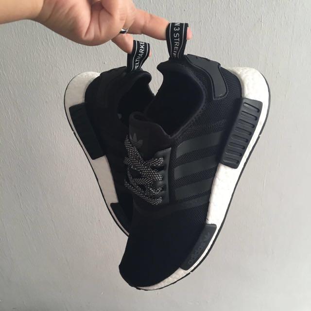 PO} Adidas NMD R1 [ BLACK REFLECTIVE