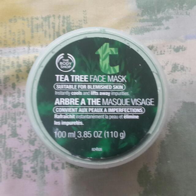 Preloved The Body Shop Tea Tree Face Mask 100ml Kondisi 90% Free Ongkir