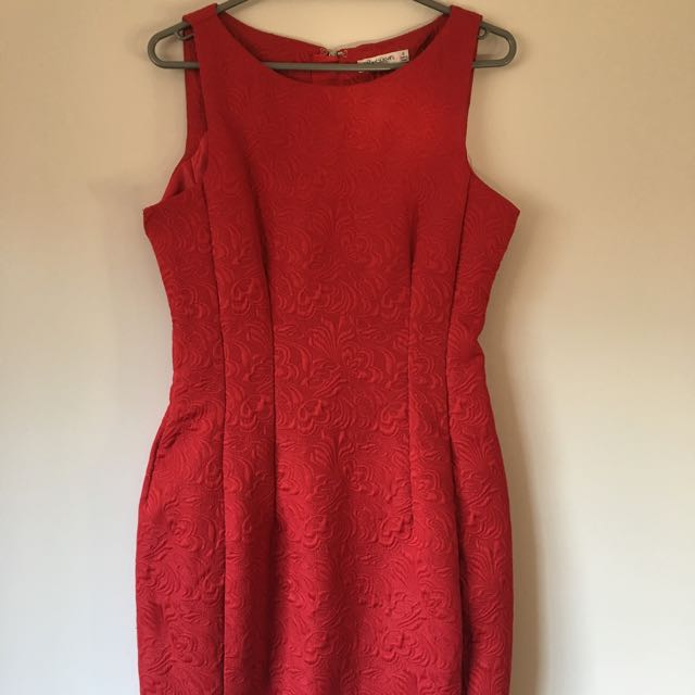 Red Curve Shaped Dress