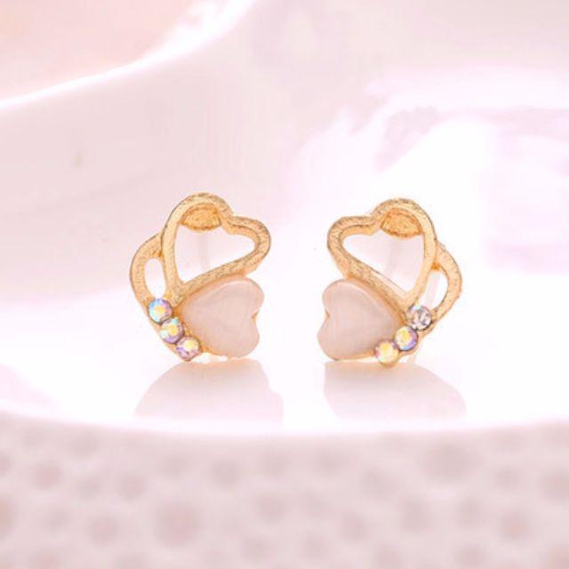 a7f95c33f South Korean cute 925 sterling silver earrings hypoallergenic fashion  jewelry, Women's Fashion, Jewellery on Carousell