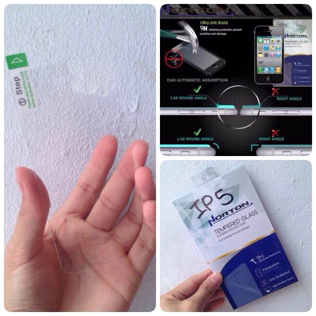 TEMPERED GLASS NORTON FOR IPHONE 5/5S