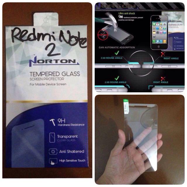 TEMPERED GLASS NORTON FOR XIAOMI REDMI NOTE 2