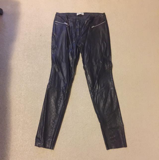 Vero Mods Pleather Trousers