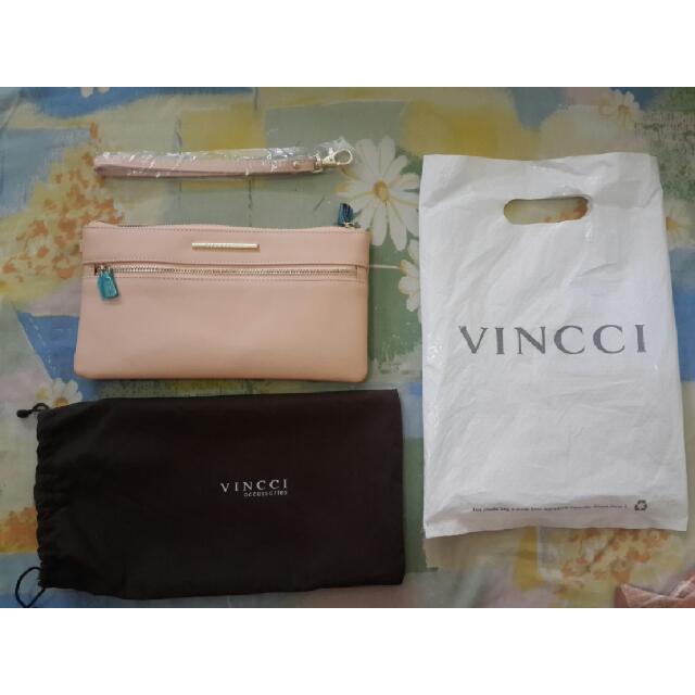 VINCCI Clutch purse Wallet Pouch Soft Pink Original