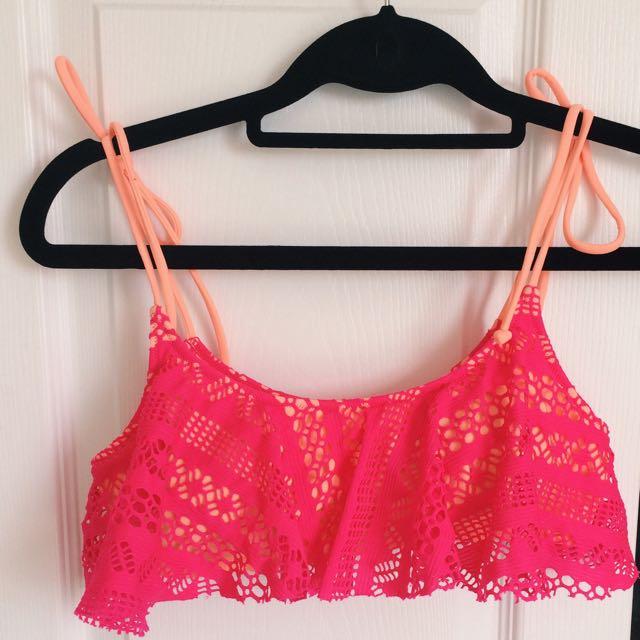VS Pink Flowy Bikini Top