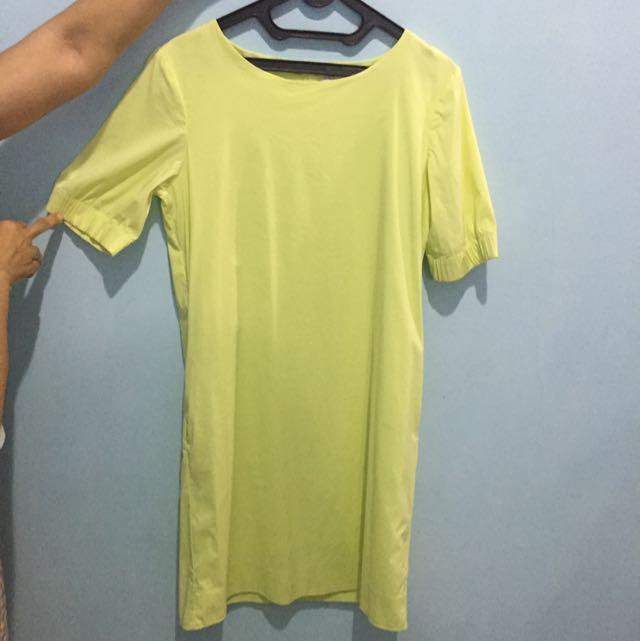 Yellow Shirt Dress