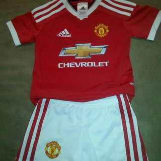 Manchester United Adidas Authentic Boys Soccer Set 18-24months