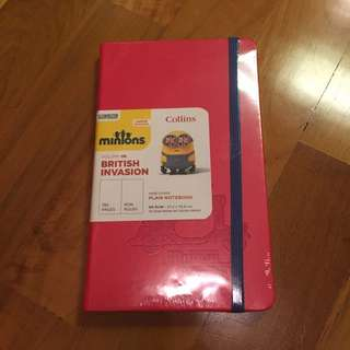 Collins Hard Cover Plain Notebook (minions Series - Limited Edition)