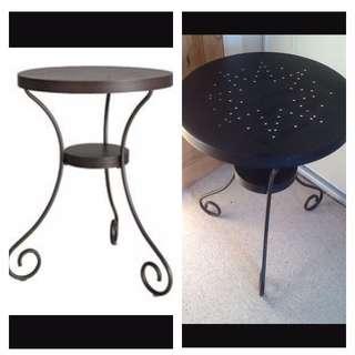 Ikea Noresund Metal Side Table