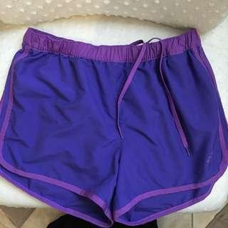 Adidas running shorts (purple)