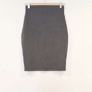 *Country Road* Stretch Checkered Pencil Skirt Size 6