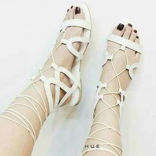 Cute White Strap Shoes