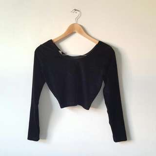 American Apparel Velvet Crop Top