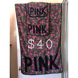 Victoria's Secret PINK Towel Set