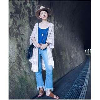 (保留)【全新】Cozyfee_峇里島葉子流蘇罩衫