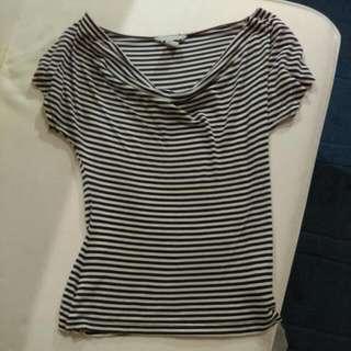 H&M Striped Scoop Neck T
