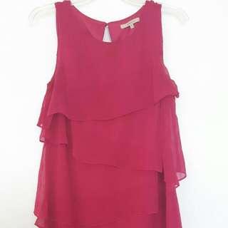 RW & Co Raspberry Dress