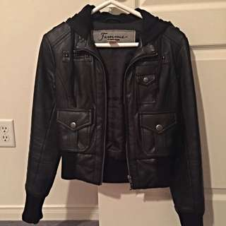 DKNY leather Bomber Jacket