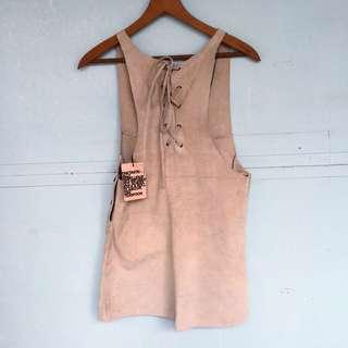 BNWT One Teaspoon Leather Dress/pinafore