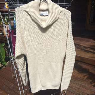 Cream Roll Neck Sweater Size S/M