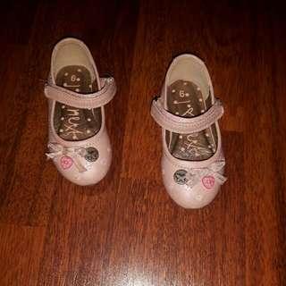 Dressy Shoes Size 6 UK  (Next). Outdoor Shoes Size 5 1/2 UK (Clark's).