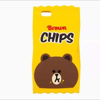 Line Brown Chips iPhone Casing