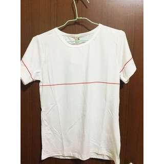 (全新)白色T恤 蝴蝶結