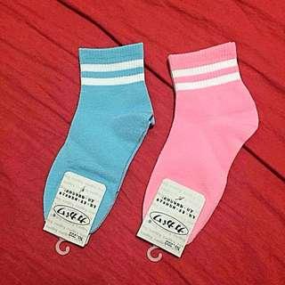 降!少女心大噴發款Baby Pink&Baby Blue兩色襪子