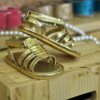 Straps Sandal Gold