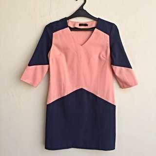 [PRICE DROP!] Dress ZALORA Ezra Pink Navy