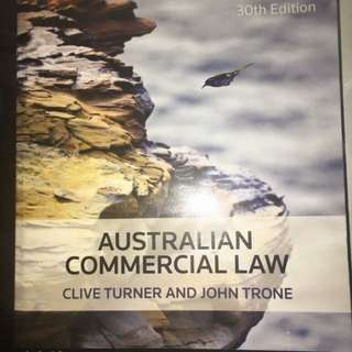 Australian commercial Law 30th Edition