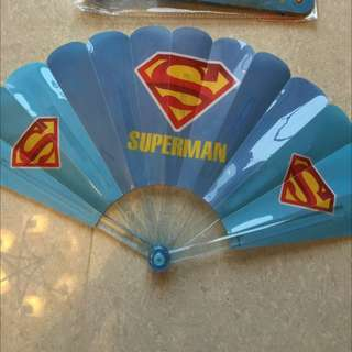扇子 塑膠扇 超人 Superman Marvel 折疊扇 Superheroes 玩具