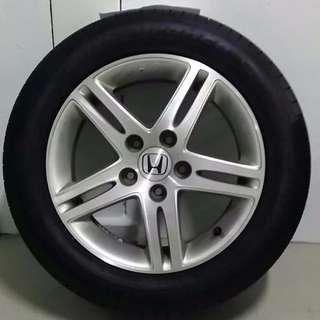 """Honda 16"""" Rims and GoodYear Tyre (4 pcs)"""