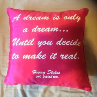PINK One Direction Pillow