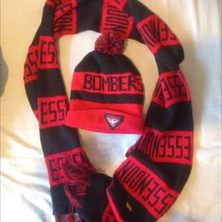 Essendon Scarf And Beanie Combo